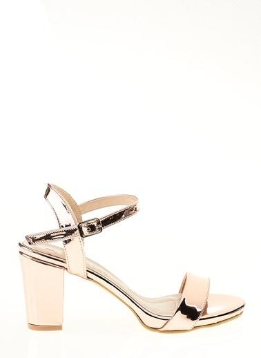 D by Divarese Kısa Topuklu Ayakkabı Pembe